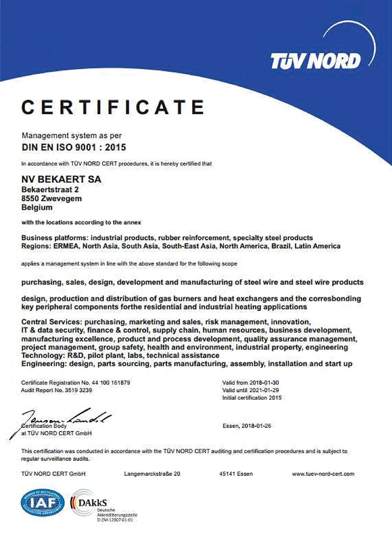 Tổ chức ISO (Thụy Sĩ) chứng nhận
