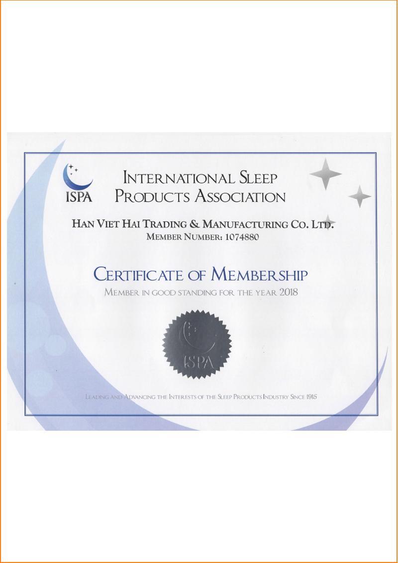 Hiệp hội ISPA (Mỹ) chứng nhận