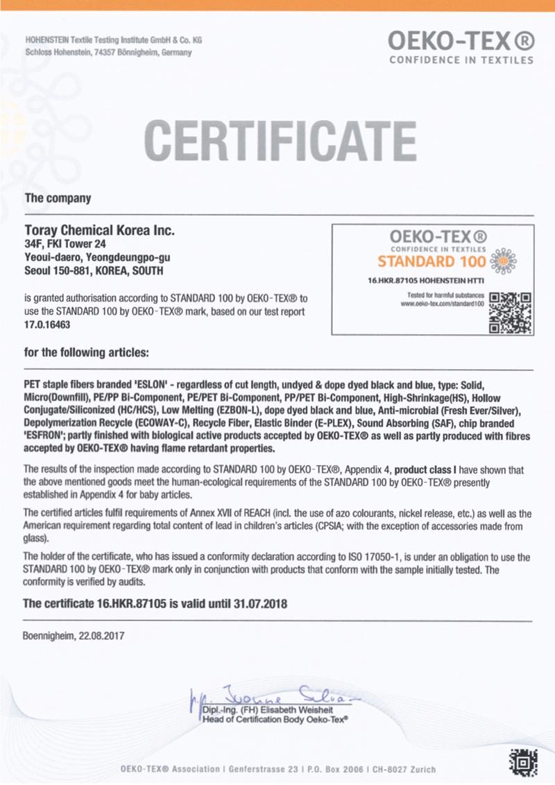 Tổ chức OEKO-TEX (Thụy Sĩ) chứng nhận