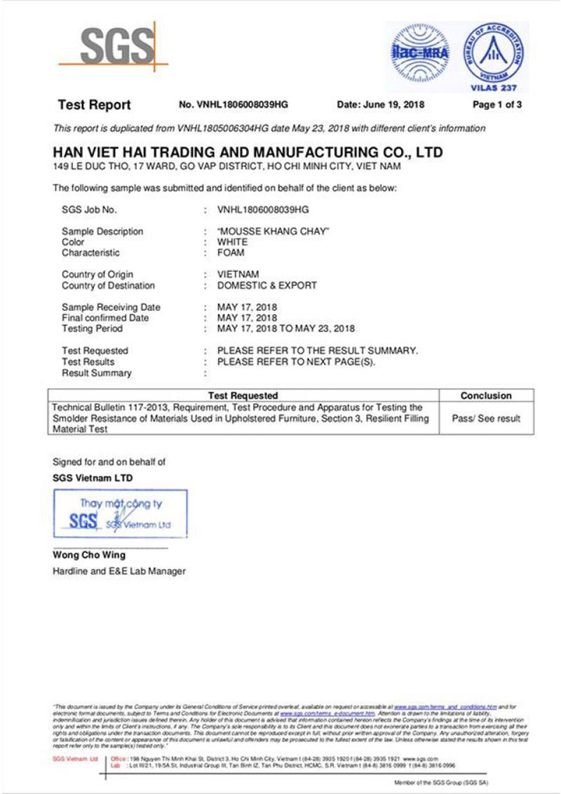 Tổ chức SGS – Thụy Sĩ chứng nhận