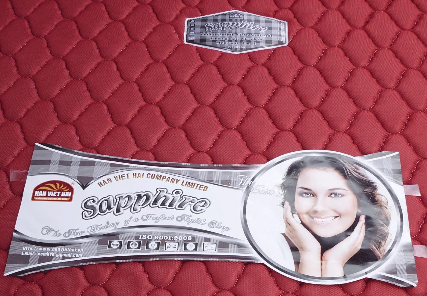 Nệm Bông thẳng SAPPHIRE có chần vải Gấm 3D