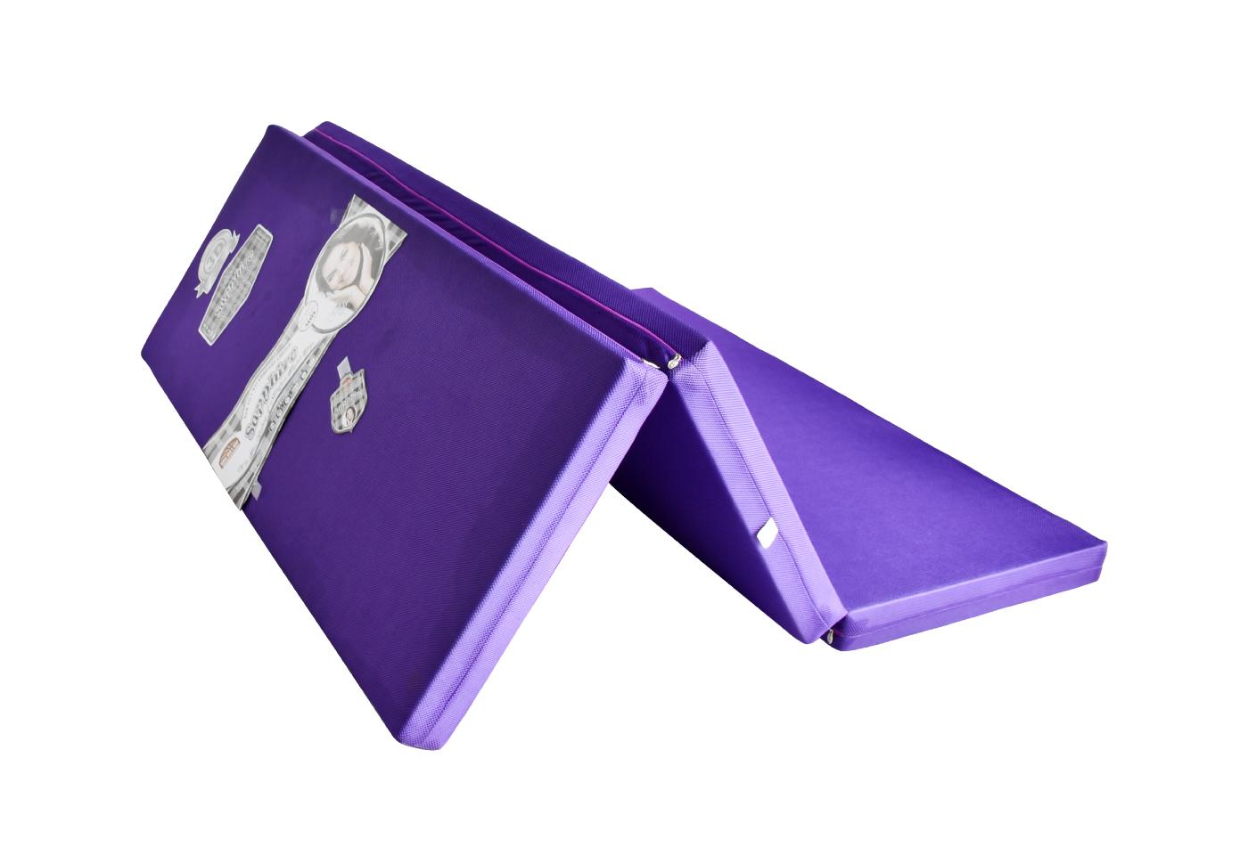 Nệm Gấp 3 Bông ép SAPPHIRE Vải Gấm 3D