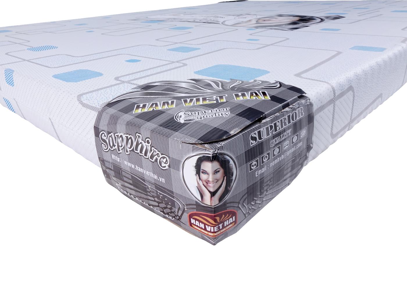 Nệm Mút thông hơi SAPPHIRE xuất khẩu, vải Xốp Gấm