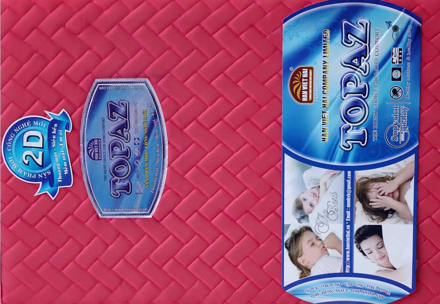 Nệm Gấp 3 PE TOPAZ  Vải 2D, có chần